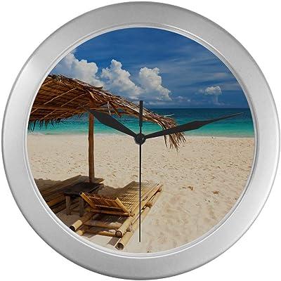 USA-Us12 Dpb0801-Douglas Peebles-Wall Clock 3dRose DPP/_89647/_1 Kaaawa Beach 10 by 10-Inch Hawaii Oahu
