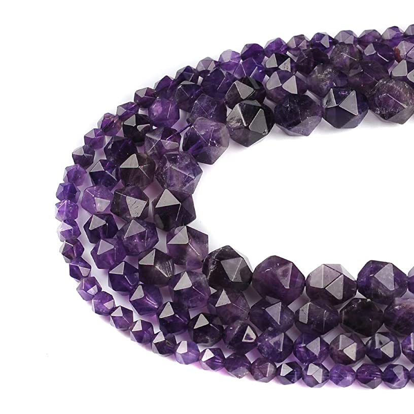FANGQUN Natural Stone Beads for Jewelry Making Adult Faceted Loose Beads DIY Necklace Bracelet 1 Strand 15