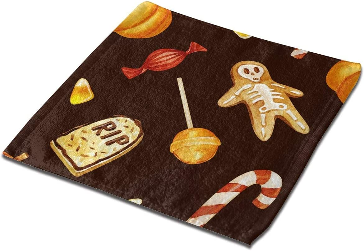 LuckyTagy Washcloth Towel Luxury Max 40% OFF goods Seamless Pattern Square Halloween with