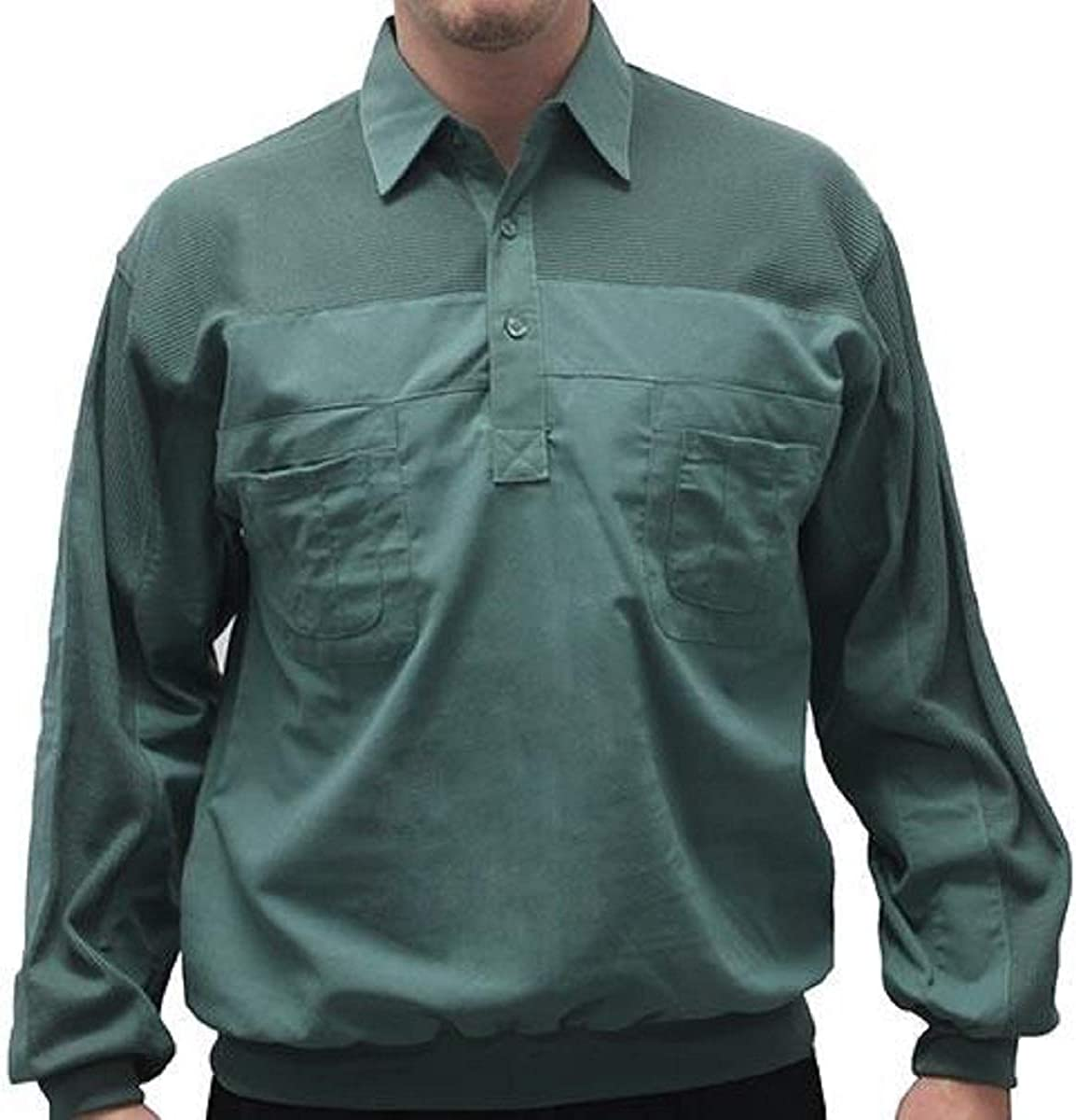LD Sport 4 Pocket Long Sleeve Banded Bottom Shirt - 6097-200BT