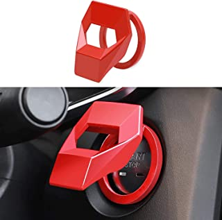 Universal Car Engine Start Stop Switch Button Cover Decorative Auto Accessories Push Button Sticky Cover for Car Interior ...