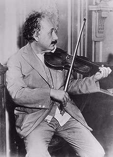 Home Comforts Albert Einstein Wisdom Genius Violin Cool Vivid Imagery Laminated Poster Print 24 x 36