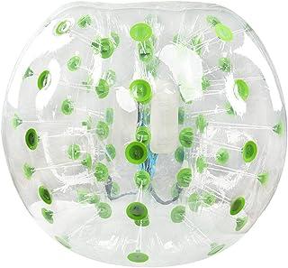 Triclicks Pelota Hinchable de Parachoques Bubble Soccer Ball Pelota de Burbuja Bola Inflable Diámetro 4 pies / 5 pies (1.2 m / 1.5 m) Pelotas de Burbuja para Adultos o niños (1.5m, Verde)