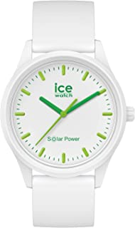 Ice-Watch - ICE solar power Nature - Montre blanche avec bracelet en silicone