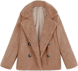 Chaqueta De Invierno para Mujer Casual Abrigo de Lana Outwear Parka Cardigan Slim Coat Overcoat Invierno Abrigo de Algodón...