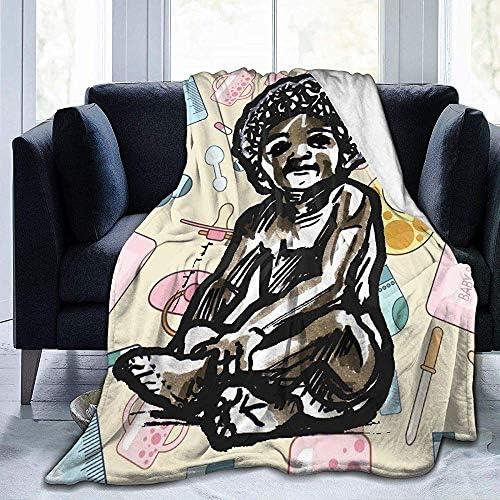 NotApplicable Couverture À Capuche Bébé avec Une Couverture De Jet Doux Afro Couverture Chaude en Polaire Durable Couverture en Flanelle Confortable Grand 153cmX204cm