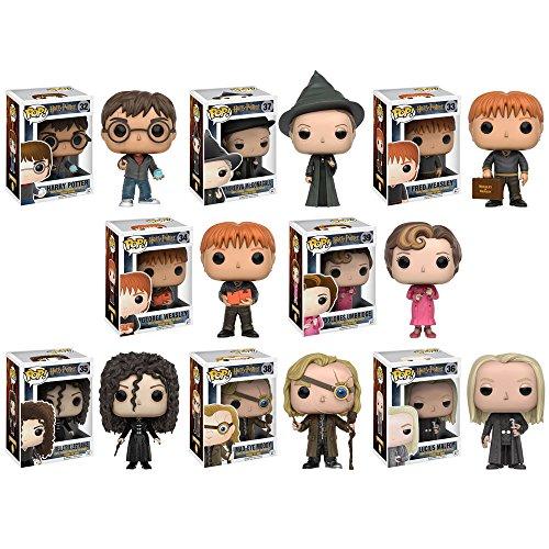 Pop!: Harry Potter - Harry Potter, Minerva McGonagall, Lucius Malfoy, Mad-Eye Moody, George Wesley, Fred Weasley, Bellatrix and Umbridge Vinyl Figures! Set of 8 image