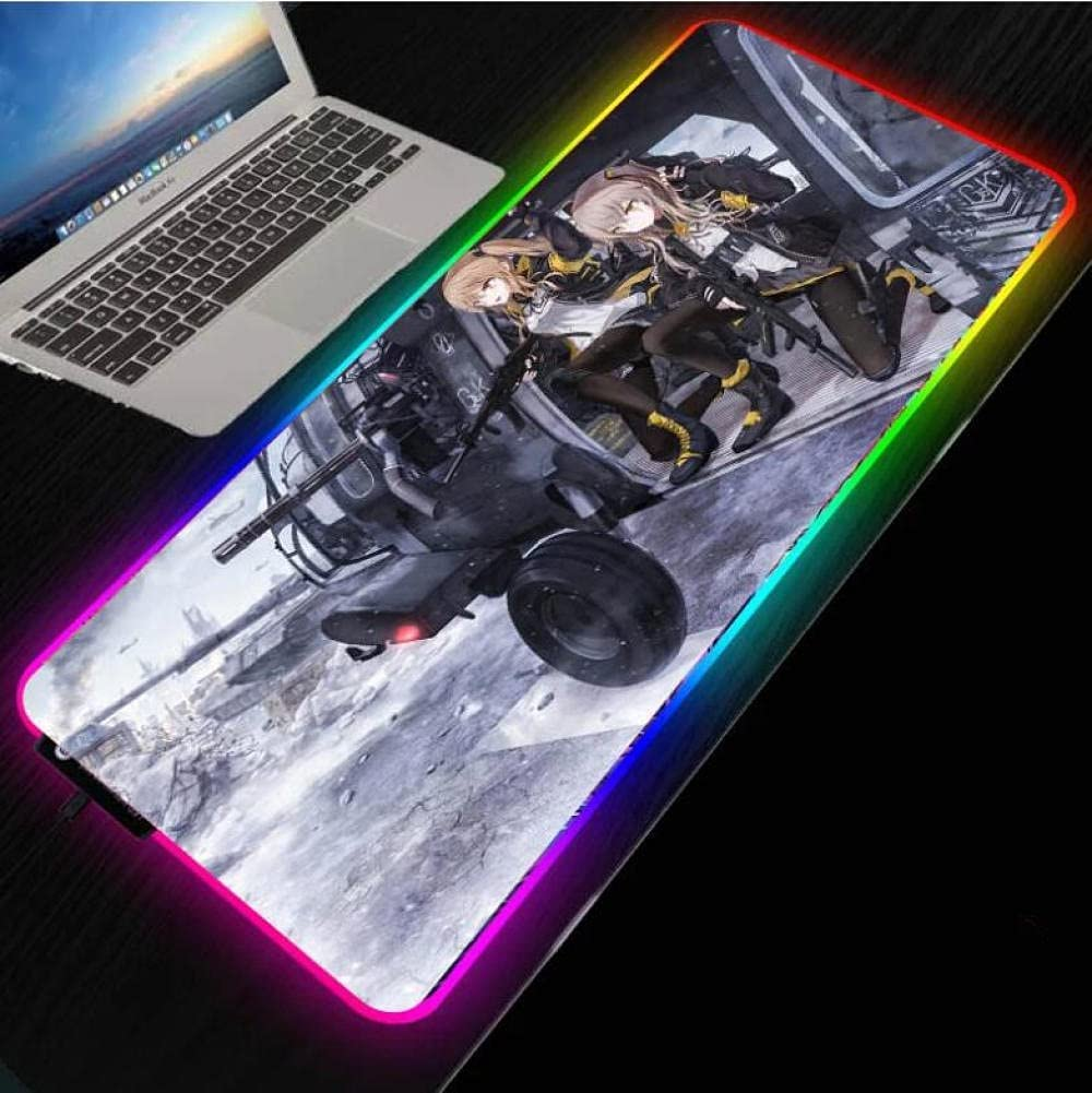 Mouse Finally popular brand Pads Anime Girl Gaming RGB Fixed price for sale Computer Backlit LED Pad