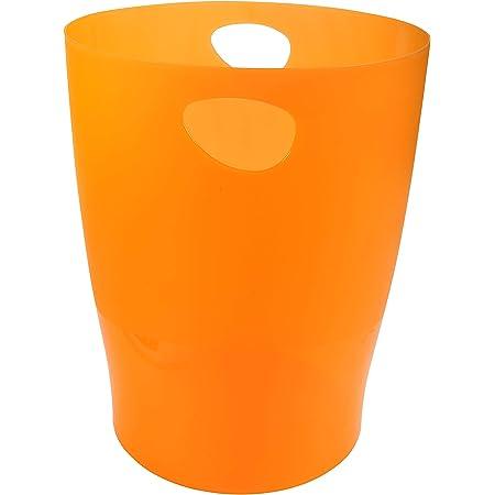 Exacompta Ecobin Corbeille à papier pour bureau 263 x 263 x 335mm Tangerine Translucent