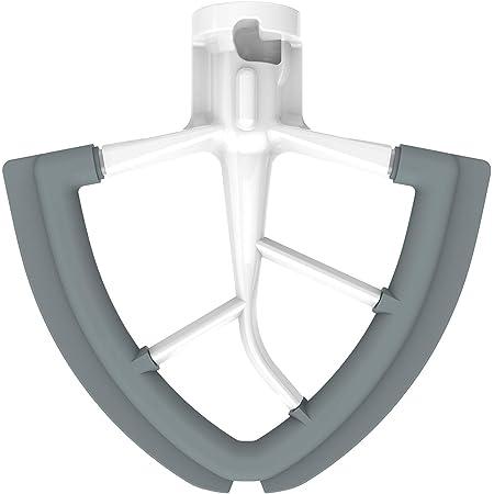 KITCHPOWER 4.5-5 Quart Flex Edge Beater for KitchenAid Tilt-Head Stand Mixers White