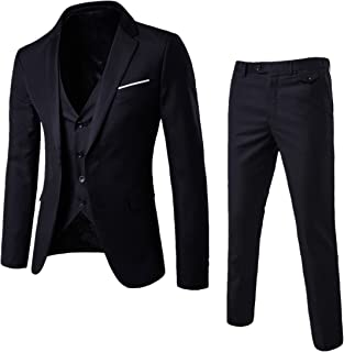 black and blue wedding suits