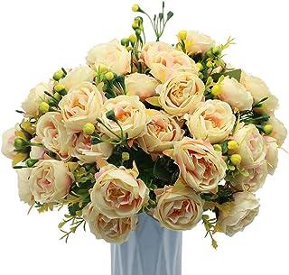 MZMing 4-pak sztuczne kwiaty piwonii sztuczne kwiaty piwonii