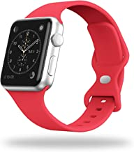 STG Smart Watch Band Compatible with Apple Watch Band 38mm 40mm 42mm 44mm, Soft Silicone Replacement Sport Strap Compatibl...
