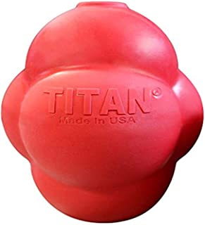 Titan Busy Bounce Tough Durable Treat Dispensing Dog Toy with Unpredictable Bounce, Large
