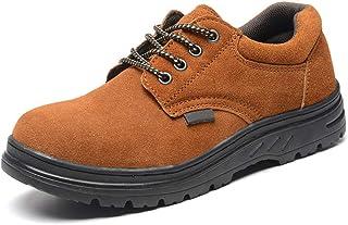 Dinah Zapatos de seguridad resistentes con puntera de acero, antideslizantes para exteriores