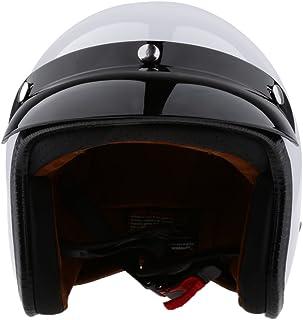 Sharplace Retro Motorhelm, 2 stuks, met afneembaar vizier, open helm, 3/4 – maat S, M