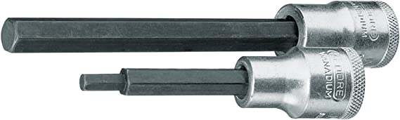 "GEDORE Schraubendreher-Einsatz lang IN19L DIN7422 1//2/""vierkant  7x100mm sechsk."