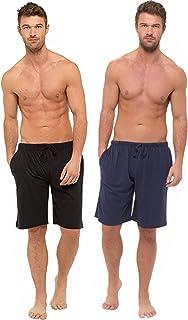 BRANDBUYS Mens Pyjamas Shorts Twin Pack | Lounge Shorts Men | Cotton Pyjama | Soft, Cosy & Comfy Shorts, Mens Pyjamas, Nig...