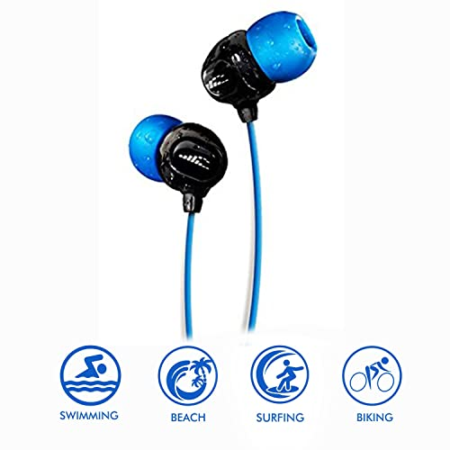 ce9a7196dca Surge S+ Waterproof Sport Short Cord Headphones for Swimming in-Ear  Sweatproof Noise Cancelling Earbuds