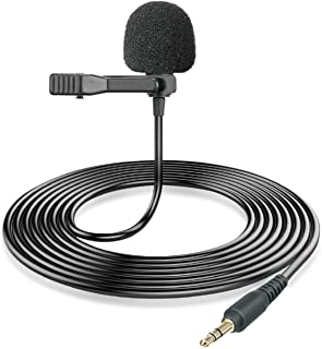 BOYA Omnidirectional 3.5mm Lapel Microphone Replacement for by-WM4 Pro WM2G by-WM8 Pro