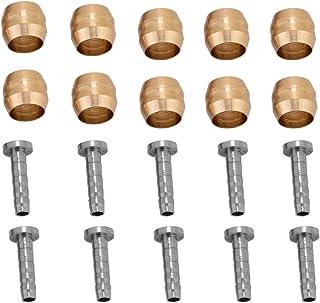 10PCS シマノ用 オリーブインサート bh90 オリーブ 油圧ブレーキホース加工用 コネクターインサート 金&銀 BH90&BH59 (BH90)