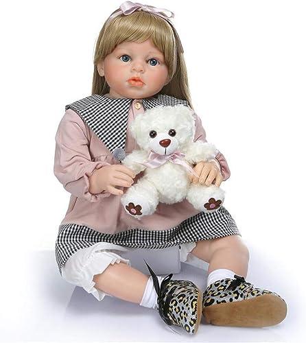 barato RENYAYA Reborn Baby Dolls Real Looking Toddler Baby Vinyl Vinyl Vinyl Linda Princesa de Silicona Hecho a Mano Realista Toy Dolls Modelo de Ropa Infantil 70 CM  suministramos lo mejor