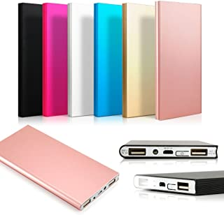 Ultra Thin 20000mAh Portable External Battery Charger Power Bank for Cell Phone (Rose Gold)