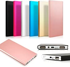 Ultra Thin 20000mAh Portable External Battery Charger Power Bank for Cell Phone (Silver)