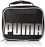 PUMA Boys Contender Kid's Backpack, Lunch Box Black/Silver, Youth