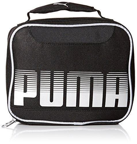 PUMA Boys' Little Backpacks and Lunch Boxes, Black/Silver, Youth
