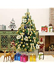 Christmas Tree Christmas Decoration Tree 7ft(2.1m) with LED light, Ornaments Rose Gold Topper Star and Champagne Christmas Decorations for Holiday Decor