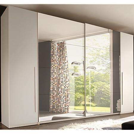 Sliding Door Wardrobe Bedroom Cupboard Match2 White Amazon De Küche Haushalt