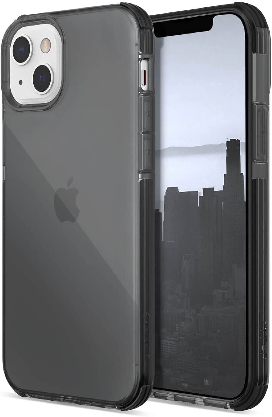 Raptic Clear Case Compatible with iPhone 13 Case, Anti-Yellow Slim Cover, Shock Absorbing Rubber, Scratch Resistant Protective Case, Fits iPhone 13, Smoke