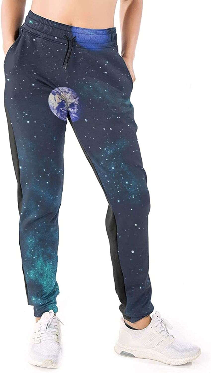 Women Joggers Pants Space Galaxy Cosmos Athletic Sweatpants with Pockets Casual Trousers Baggy