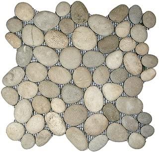 Java Tan Pebble Tile 1 sq.ft. (Mesh Mounted)