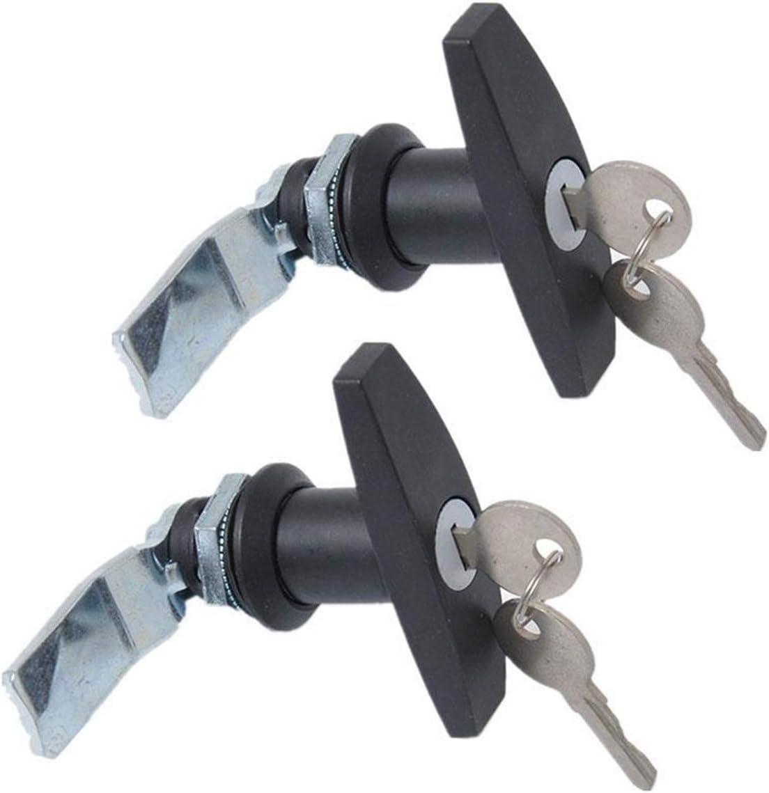ZSQ 2pcs Max 61% OFF Set Price reduction T Handle Lock Trailer : Color Caravan Toolbox