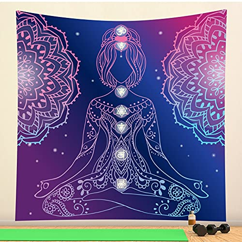 PPOU Tapiz de Mandala místico Indio Tapiz de brujería de Pared Tapiz de Fondo Hippie Bohemio Manta de Tela Colgante A4 150x200cm