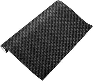 3D Carbon Fiber Vinyl Wrap Sheet Roll Film Car Sticker (Black)(127x30cm)