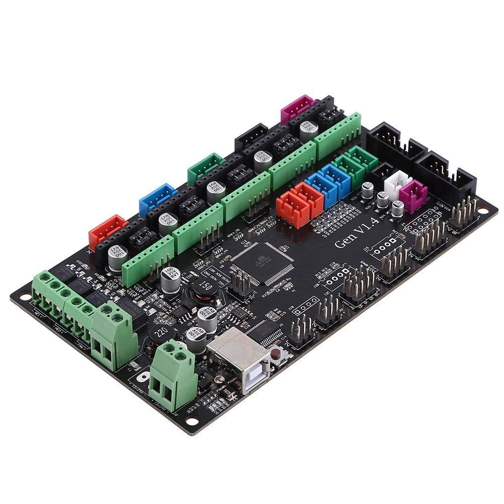 MOSFET Tube 3D Printer Kit Módulo de placa de control RAMPS 1.4 Controlador de placa base integrado con cable USB 2560 Placa base DC 12V-24V para RepRap Shield