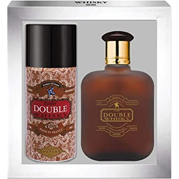 WHISKY DOUBLE • Caja Eau de Toilette 100ML + Desodorante 15OML • Vaporizador • Spray • Perfume para hombre • Regalo• EVAFLORPARIS: Amazon.es: Belleza