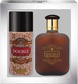 WHISKY DOUBLE • Caja Eau de Toilette 100ML + Desodorante 15OML • Vaporizador • Spray • Perfume para hombre • Regalo• EVAFL...