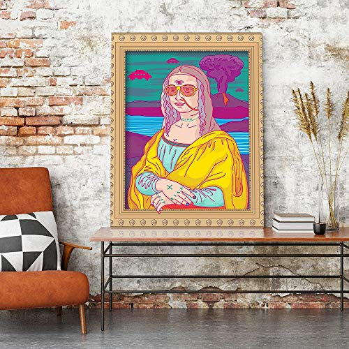 Ayjxtz Jigsaw puzzle 1000 piece Cartoon modern art girl picture abstract painting jigsaw puzzle 1000 piece falcon Great Holiday Leisure,Family Interactive Games50x75cm(20x30inch)