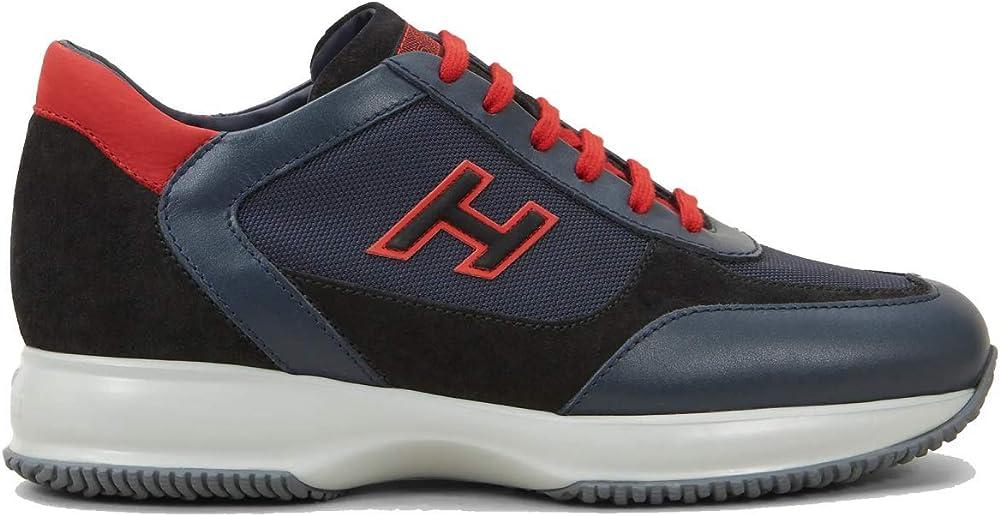 hogan dettosante ,scarpe da uomo interactive sportive, sneakers,in pelle hxm00n0q101o8m50bu