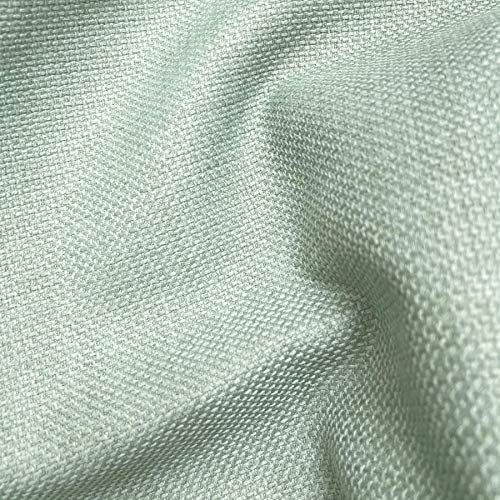 MINT GREEN SOFT PLAIN LINEN LOOK HOME ESSENTIAL DESIGNER LINOSO CURTAIN CUSHION SOFA BLIND UPHOLSTERY FABRIC MATERIAL SOLD BY THE METRE