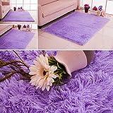 Homyl Alfombra Antideslizante De Color Púrpura Alfombra Área De La Sala De Estar Cómoda Alfombra Dormitorio