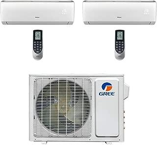 GREE MULTI18CLIV201-18,000 BTU Multi21+ Dual-Zone Wall Mount Mini Split Air Conditioner Heat Pump 208-230V (9-12)