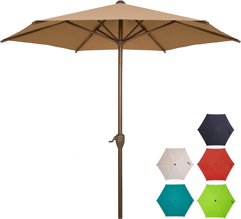 Ogrmar 7.5 FT Patio 超目玉 Umbrella Outdoor Push 高品質 Table Bu with