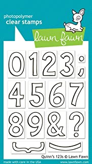 Lawn Fawn - Clear Acrylic Stamps - Quinn'S 123S (Pack of 2)