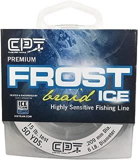 Clam Pro Tackle Frost Braid - 15lb - 6lb Dia - Smoke - 50 Yard