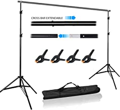 Volkwell Photo Backdrop Support Stand 10x 6.5ft, Adjustable Portable Background Stand with Carry Bag for Photography Video Studio Shooting.